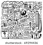 hand draw school element | Shutterstock .eps vector #69294436