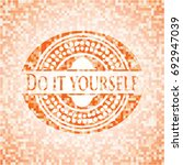 do it yourself abstract orange... | Shutterstock .eps vector #692947039