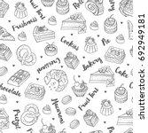 bakery  cakes dessert  pastries ...   Shutterstock .eps vector #692949181