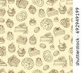 bakery  cakes dessert  pastries ...   Shutterstock .eps vector #692949199
