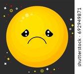 flat line emoji icon. emoticon... | Shutterstock .eps vector #692949871