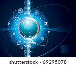 technology background of global ... | Shutterstock .eps vector #69295078
