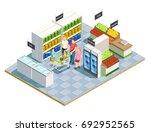family shopping isometric... | Shutterstock .eps vector #692952565
