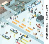 airport isometric design with... | Shutterstock .eps vector #692952595