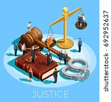 law design isometric conceptual ...   Shutterstock .eps vector #692952637