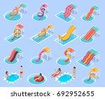 colored water park aquapark... | Shutterstock .eps vector #692952655