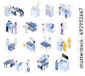 colored isometric scientific... | Shutterstock .eps vector #692952667