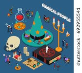 magical people isometric design ... | Shutterstock .eps vector #692955541