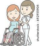 illustration walking by a nurse ... | Shutterstock .eps vector #692955904