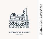 geological survey  engineering...   Shutterstock .eps vector #692956267