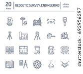 geodetic survey engineering... | Shutterstock .eps vector #692956297