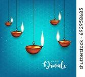 happy diwali wallpaper design... | Shutterstock .eps vector #692958685