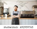 coffee business owner concept   ...   Shutterstock . vector #692959765