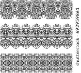 openwork strips. lace. seamless.... | Shutterstock .eps vector #692959861