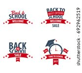 set of back to school logo or... | Shutterstock .eps vector #692962519