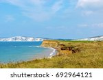 edge of coast looking from... | Shutterstock . vector #692964121
