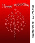 valentine's day wallpaper with... | Shutterstock .eps vector #69296500