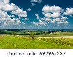 Rural View Of A Green Field In...