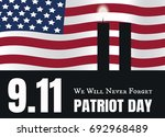 9.11 patriot day american flag... | Shutterstock .eps vector #692968489
