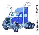cartoon vehicle transport.... | Shutterstock .eps vector #692968741
