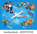 airport departure isometric...