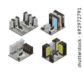 data center isometric...