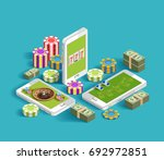 casino isometric icons... | Shutterstock .eps vector #692972851