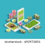 casino isometric icons... | Shutterstock .eps vector #692972851