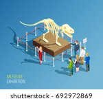 museum infographic background... | Shutterstock .eps vector #692972869