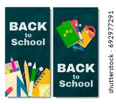 back to school banner. chalk... | Shutterstock .eps vector #692977291