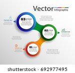 vector infographics design and ... | Shutterstock .eps vector #692977495