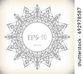 mandala  vector. decor for your ... | Shutterstock .eps vector #692978587