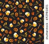 oktoberfest vector seamless...   Shutterstock .eps vector #692981851