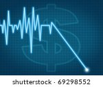 price graph chart moving down... | Shutterstock . vector #69298552