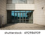 building glass entrance | Shutterstock . vector #692986939