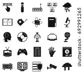 facts icons set. simple set of... | Shutterstock .eps vector #692991265
