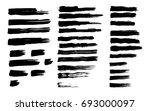 set of black paint  ink brush... | Shutterstock .eps vector #693000097