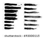 black paint ink brush strokes.   Shutterstock .eps vector #693000115
