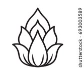 lotus icon isolated... | Shutterstock .eps vector #693003589