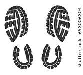 imprint soles shoes   sneakers  | Shutterstock .eps vector #693006304