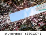 over crowded housing in hong... | Shutterstock . vector #693013741