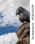 Small photo of Statue of a Ram in the Scottish Border town of Moffat