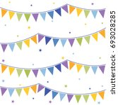 bunting flags celebration party ...   Shutterstock .eps vector #693028285