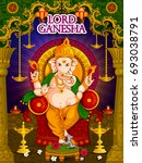 lord ganpati in vector for... | Shutterstock .eps vector #693038791