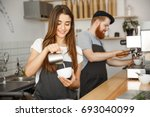 coffee business concept   close ... | Shutterstock . vector #693040099