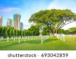 manila american cemetery on aug ... | Shutterstock . vector #693042859