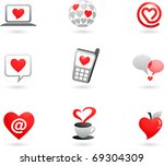 valentines day   collection of... | Shutterstock .eps vector #69304309
