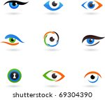 collection of eye icons | Shutterstock .eps vector #69304390
