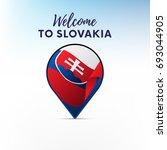flag of slovakia in shape of...   Shutterstock .eps vector #693044905