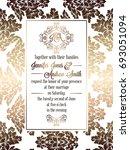 vintage baroque style wedding... | Shutterstock . vector #693051094